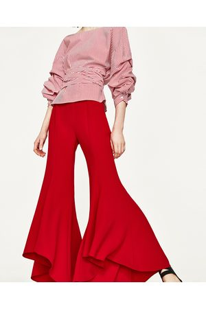 b463eb54 Zara clothes shop women's wide leg trousers, compare prices and buy online