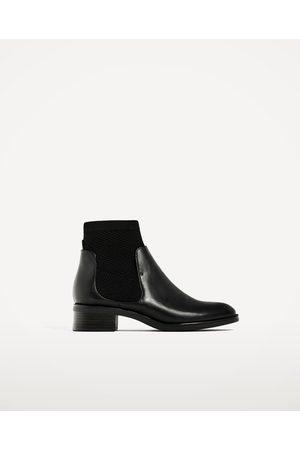 Women Ankle Boots - Zara FLAT SOCK ANKLE BOOTS