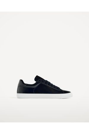Men Casual Shoes - Zara LAMINATED EFFECT PLIMSOLLS - Available in more colours