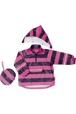 Boys Rainwear - Playshoes Poncho Stripes Boy's Rain Coat -Purple