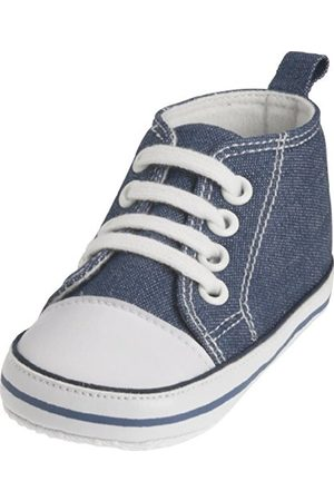 Boots - Playshoes Canvas Baby Toddler Sneaker, Babyshoes, Booties (Jeansblue, 0 - 6 Months