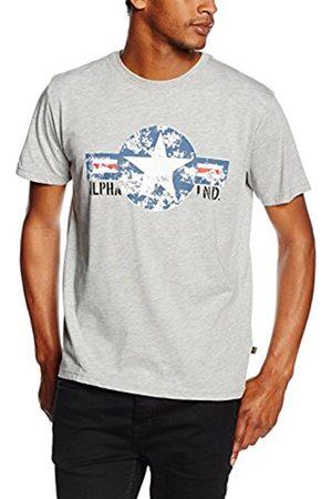 Men T-shirts - Alpha Industries Men's Usaf T T-Shirt, -Grau ( Heather 17)