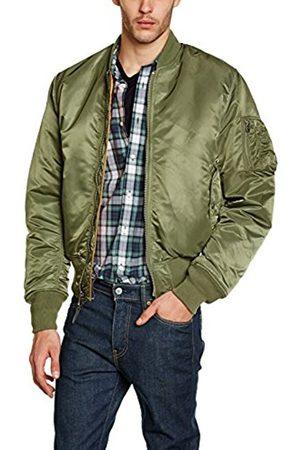 Men Coats - Alpha Industries Men's MA-1 Long Sleeve Coat Coat (Sage)