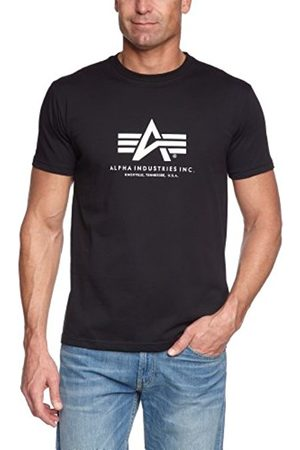 Men Short Sleeve - Alpha Industries Men's Basic T-Shirt Regular Fit Short Sleeve T-Shirt T-Shirt