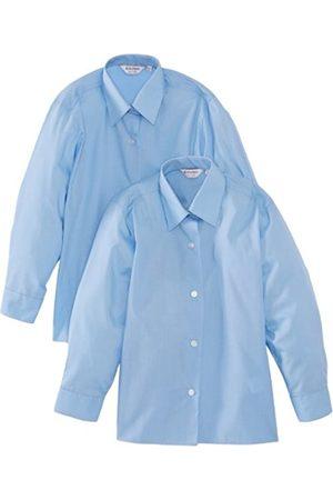 Girls Blouses - 2pk Girl's Long Sleeve Easy Care Blouse