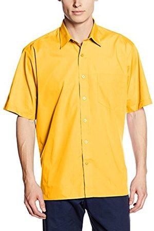 Men Short Sleeve - Men's Poplin Regular Fit Short Sleeve Formal Shirt