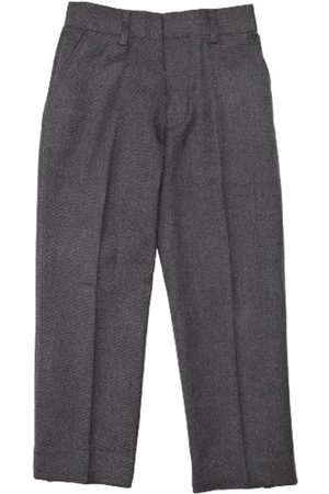Boys Formal Trousers - Junior Boy's Elastic Back Classic Fit Trousers