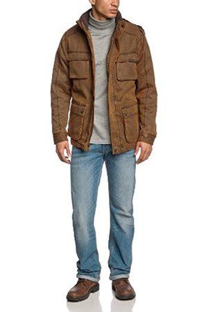 Men Winter Jackets - Raw Vintage Xylontum Mens Winter Jacket Padded Warm Water-Resistant Biker Brown - - Large
