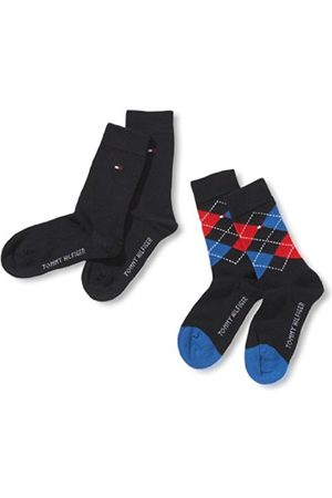 Boys Socks - Tommy Hilfiger Boys TH Kids Origina Argyle 2 Pack Checkered Calf Socks