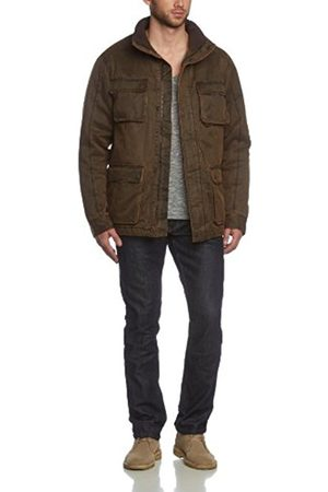 Men Winter Jackets - Raw Vintage Xylontum Mens Winter Jacket Padded Warm Water-Resistant Biker - - Large