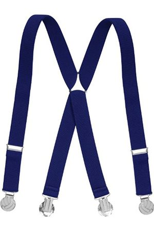 Boys Braces - Playshoes Boy's Kids Fully Adjustable Elasticated Suspenders with Football Clips Braces