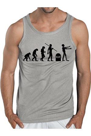 Men Tank Tops - Touchlines Men's Tank Top - Evolution Zombies Size:L