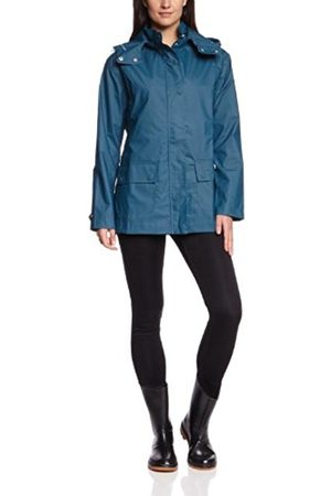 Ilse Jacobsen Women's Hooded Long - regular Rain Coat - Turquoise - Türkis (Petroleum (621)) - 18 (Brand size: XXL)