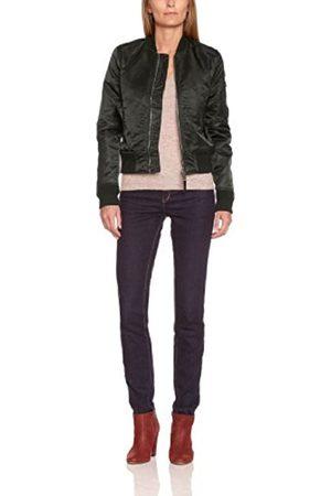 Women Bomber Jackets - Schott NYC Women's American Colleagde MA1 Bomber Varsity Long Sleeve Jacket