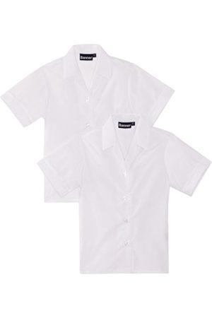 Girls Short Sleeve - Girl's Revere Twin Pack Short Sleeve School Blouse