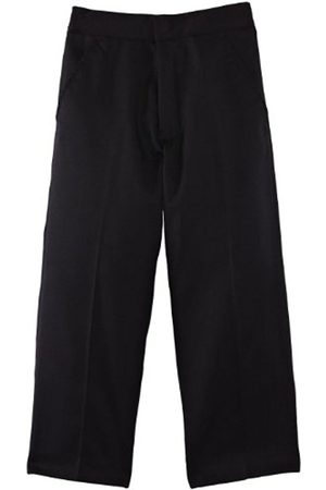 Boys Trousers & Shorts - Junior Boy's Fulham Flat Front with Fly School Trousers