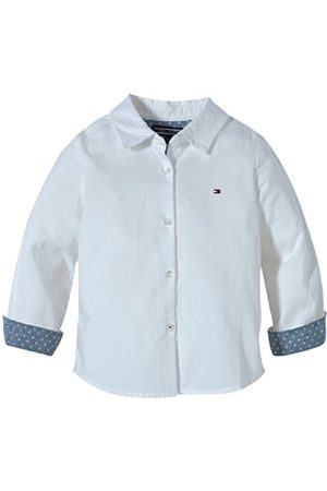Tommy Hilfiger Girl's NEW GIRLS OXFORD MINI SHIRT L/S ET57117922 Blouse - Wei (CLASSIC ) 3 Years