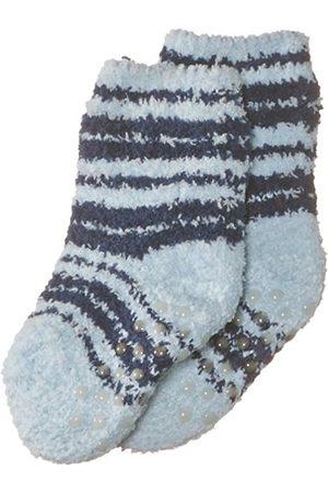 Boys Socks - Playshoes Boy's Fleece Striped Soft and Cuddly Anti-Slip Ankle Socks