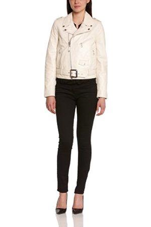 Women Blouses - Schott NYC Women's LCW8600 Blouse Long Sleeve Jacket - off- - Large