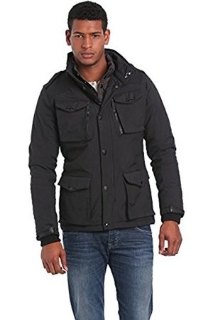 Men Parkas - Schott NYC Men's Field Parka Long Sleeve Coat