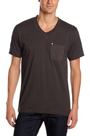 Men Short Sleeve - Bench Men's RACK Plain or unicolor V-Neck Short sleeve T-Shirt - - Large