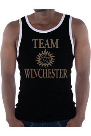 Men Tank Tops - Touchlines Men's Kontrast Team Winchester Bros Luzifer Ringer Contrast Tank Top, - /