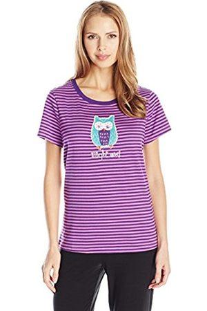 Women Short Sleeve - Hatley Little Blue House by Women's Night Owl Short Sleeve Pyjama Top