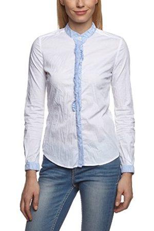 Women Shirts - GAS Women's Dippye Monk Collar Ruffle Shirt
