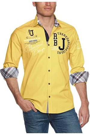 Men Long sleeves - Men's R-2131 Regular Fit Round Collar Long Sleeve Casual Shirt - - 56/58