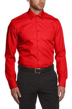 Men Shirts - Men'S Plain Classic Long Sleeveformal Shirt - - Small (Brand Size: Herstellergröße: 39)