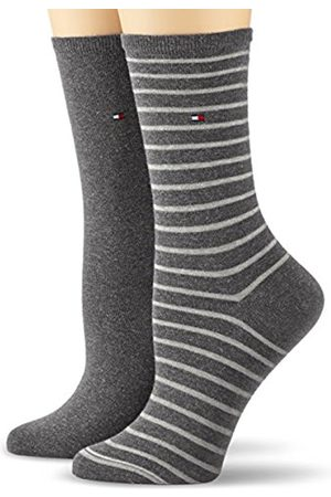 Women Tights & Stockings - Tommy Hilfiger Women's Small Stripe 2P Casual Socks