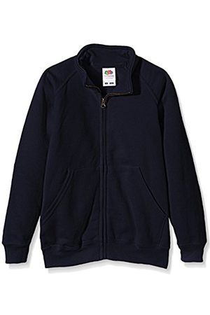 Fruit Of The Loom Boy's Kids Sweat Jacket Deep Navy 7-8 Years (Manufacturer Size:7/8)