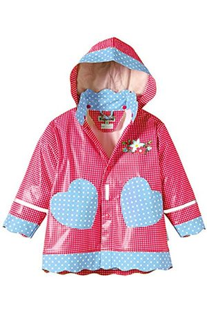 Girls Jackets - Playshoes Girl's Waterproof Jacket Hearts Country House Raincoat