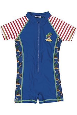 Bodysuits & All-In-Ones - Playshoes Boy's UV Sun Protection All-in-One Swimsuit Pirate Island Swim Shorts