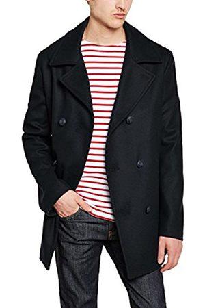 Men Coats - Armor.lux Men's 3706 Reefer Long Sleeve Coat