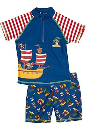 Boys Swim Shorts - Playshoes Boy's UV Sun Protection 2 Piece Swim Set Swimsuit Pirate Island Swim Shorts