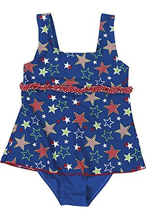 Girls Swimsuits - Playshoes Girl's UV Sun Protection Ruffle Skirt Bathing Suit Stars Swimsuit