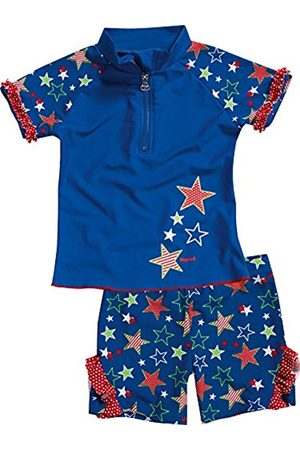 Girls Swimsuits - Playshoes Girl's UV Sun Protection 2 Piece Swim Set Stars Swimsuit