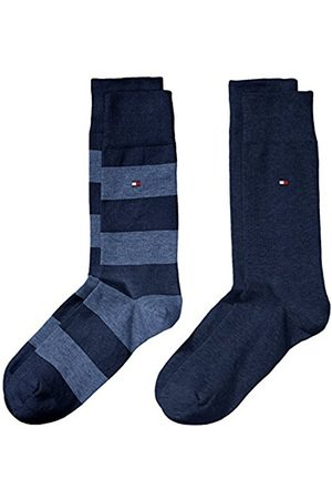 Men Socks - Tommy Hilfiger Men's TH RUGBY SOCK 2P Calf Socks