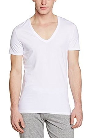 Men Vests & Camis - Hom Men's Business Smart Cotton V-Neck T-Shirt Plain Themal Top