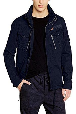 Men Jackets - Schott NYC Men's SQUAD Blouse Polo Long Sleeve Jacket - - X-Large
