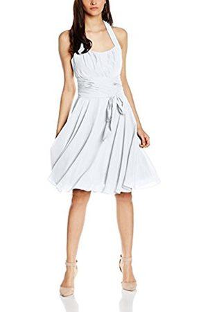 Women Party & Evening Dresses - Women's Co8002ap Knee-Length Plain Cocktail Sleeveless Dress, White