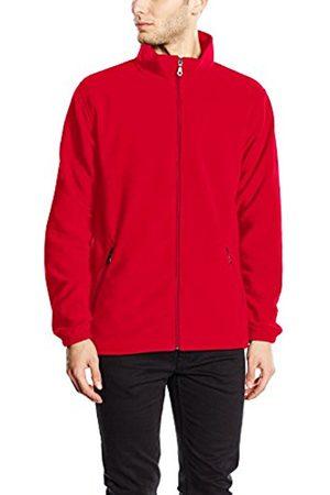 Men Fleece Jackets - Trigema Men's Jacket Rot (kirsch 036) XXXXX-Large