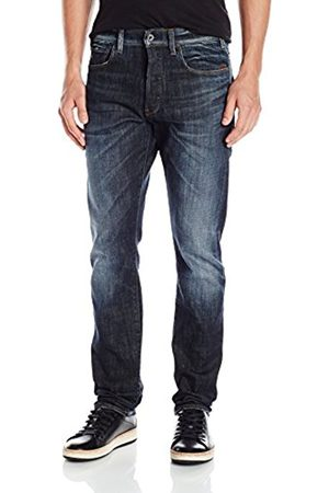 Men Straight - G-Star Men's Defend 51062 6083 Straight Jeans, (Dark Aged)