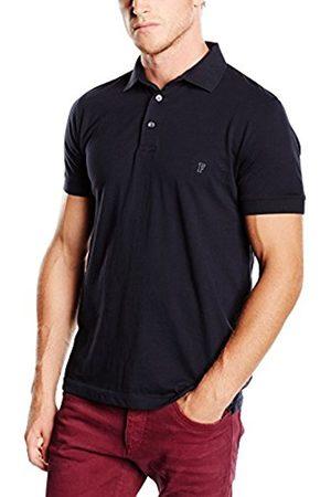 French Connection Men's Basic Sneezy Polo T - Shirt, Marine /Gunmetal 42)