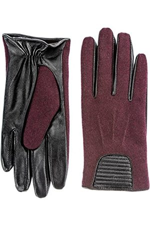 Women Gloves - Women's Leather Gloves in Leather/Wool Blend