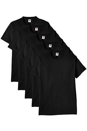 Men Short Sleeve - Fruit Of The Loom Men's Heavy Cotton 5 Pack Regular Fit Round Collar Short Sleeve T-Shirt