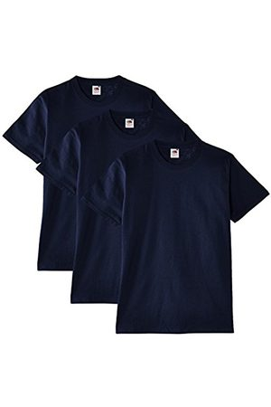 Men Short Sleeve - Fruit Of The Loom Men's Heavy Cotton 3 Pack Regular Fit Round Collar Short Sleeve T-Shirt