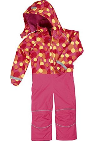 Girls Ski Suits - Playshoes Girl's Waterproof and Breathable Overall, Ski and Snowboarding Allover Dots Snowsuit