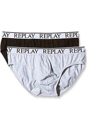 Men Boxer Shorts - Replay Men's Pack 2 Retro NOOS Boxer Shorts